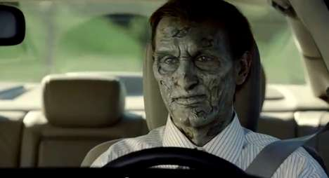 Silly Zombified Advertisements - The 2012 Honda Civic Zombie Commercial is Horrifyingly Funny
