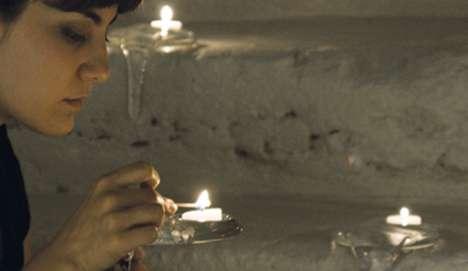 Elegantly Frozen Candles