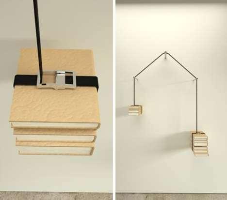 Strap-On Bookshelves