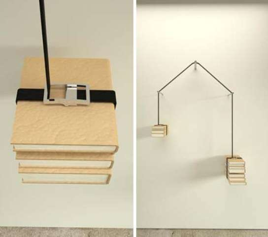 Strap-On Bookshelves