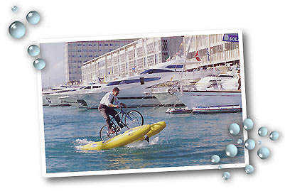 Cycle on Water - Shuttle Biking: Pedal in, Paddle Out