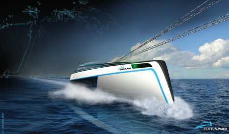 Kite-Powered Yacht - Kitano Luxury Water Craft