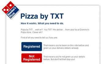 Pizza Via SMS