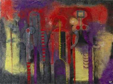 "Dumpster Divers Recover ""Tres Personajes"" Painting by Rufino Tamayo"