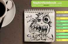 Cocktail Scribble Portfolio - The Napkin Notebook