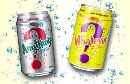 Surprise in a Can - Anything & Whatever Drink