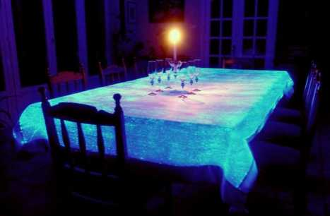 High Tech Tablecloths - LumiGram For Dazzling Dinners