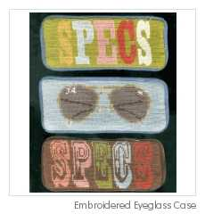 Hand-Embroidered Eyeglass Cases