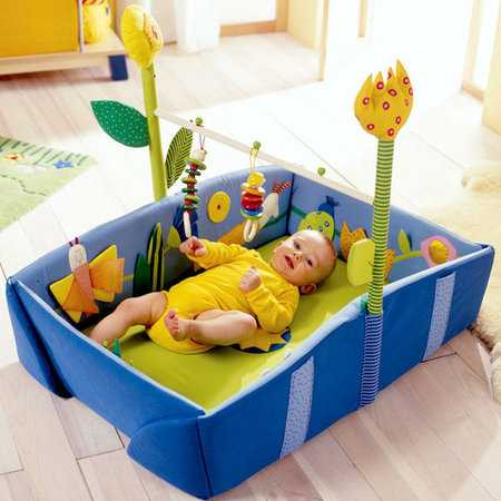Convertable Bed/Exerciser/Play Space/Diaper Changer - Dream Meadow Playpad