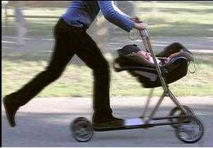 Baby Buggy Converts to Scooter