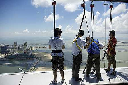 World's Highest Bungee Jump - Macau Tower is 764 Ft Up