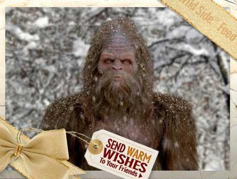 Sasquatch Pees Holiday Greetings