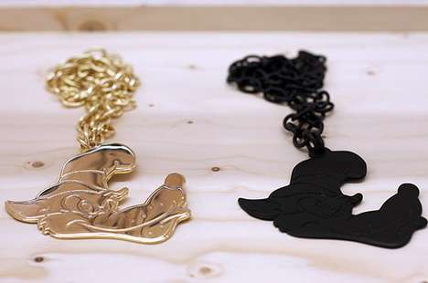 Villainous Canine Necklaces - Big Wolf Bling Bling by JC de Castelbajac Makes All the Piggies Squeel