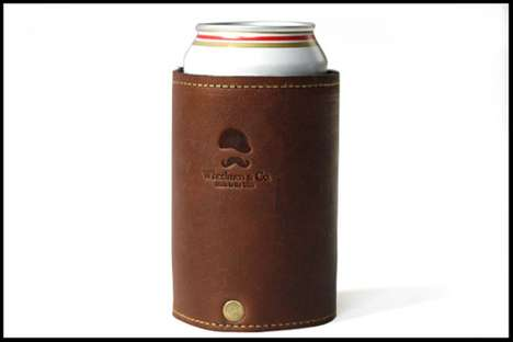 Keep the Beer Cold With the Wheelmen Goldman Koozie