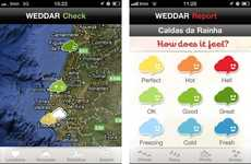 "Crowdsourced Weather Apps - The Weddar App Lets You ""Check Into"" the Weather"