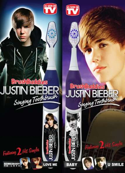 Pop Star Teeth Cleaners - The Justin Bieber Singing Toothbrush Plays Songs While You Brush