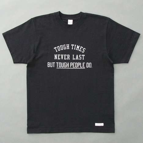 Supportive Charitable Clothing - All Proceeds from the Tough People Tee go to the Red Cross Society