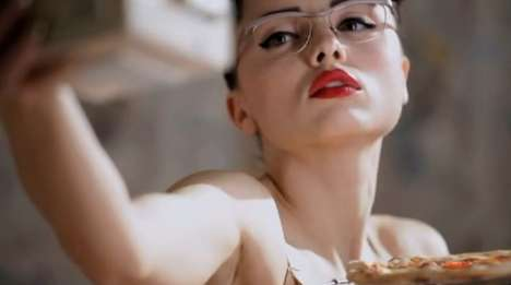 Culinary Fashion Films - Retro Pizza-Making in Precious by Monica Menez for Willems Wonderglasses