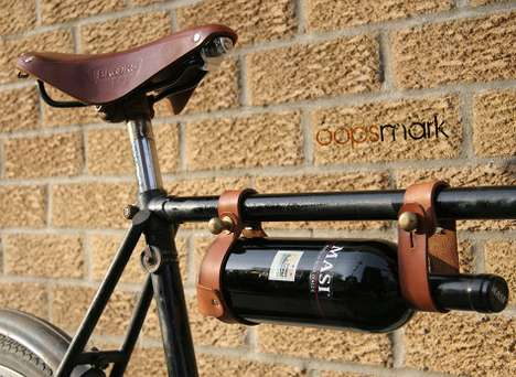 Bike Booze-Carriers - The Bicycle Wine Rack by Oopsmark Has a Steampunk Aesthetic