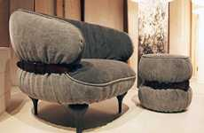 Strapped-Up Seating - The Moroso for Diesel Chubby Chic Collection is Fashionably Belted