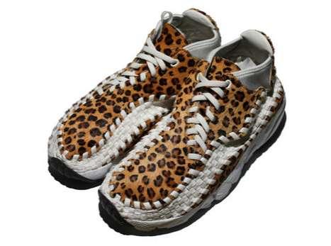 Latticed Leopard Sneakers