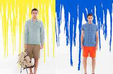 Paint-Splattered Lookbooks - The OBEY Summer Collection Gets a Splash of Color