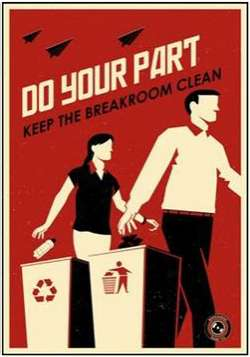 Communist-Inspired Etiquette Art - The Office Propaganda Series is a Spin on Company Policies