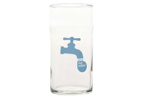 City Conservation Cups - The Drink NYC Tap Water Glassware Encourages Turning on the Faucet