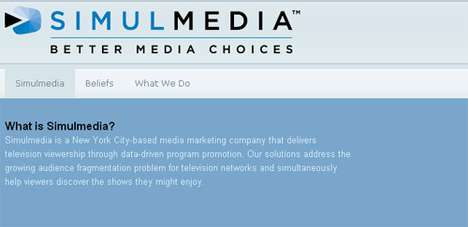 Web-Like TV Advertising - Simulmedia Uses Your TV Viewing History to Show Relevant Ads