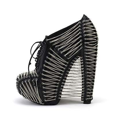Chained-Up Booties - Iris van Herpen's Crystallization Collection is Rockstar Footwear