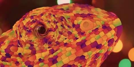 Chromatic Chameleon Illustrations