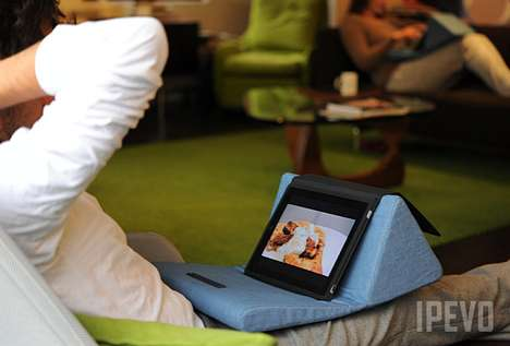 Cozy Tablet Cushions - Cushi iPad Pillow Makes You and Your iPad Comfortable