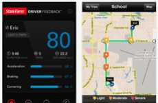 Driver-Monitoring Apps - The State Farm Driver Feedback App Encourages Safe Driving