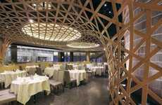 Rolling Bamboo Interiors - Atelier FCJZ Designs the Tang Palace Restaurant in Hangzhou China