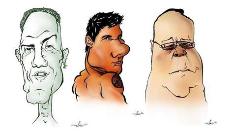 Emotional Celeb Caricatures