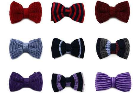 Steve & Co.'s Line of Fashionable Knitted Silk Bow-Ties for Men