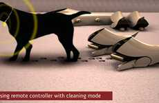 Doggie Carpet Cleaners - The Puppy Robotic Vacuum Cleaner Uses Puppies to Keep Your Carpet Clean
