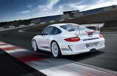 Speedy Street-Legal Luxury Cars - The Porsche GT3 RS 4.0 Offers Consumers a Taste of Racecar Life