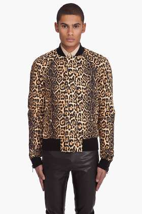 Manimal Prints - Givenchy Designs Sexy Leopard Varsity Jacket for Men