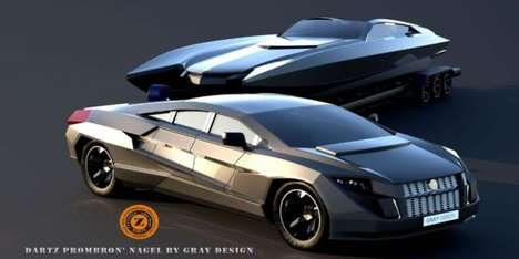Yacht-Towing Supercars