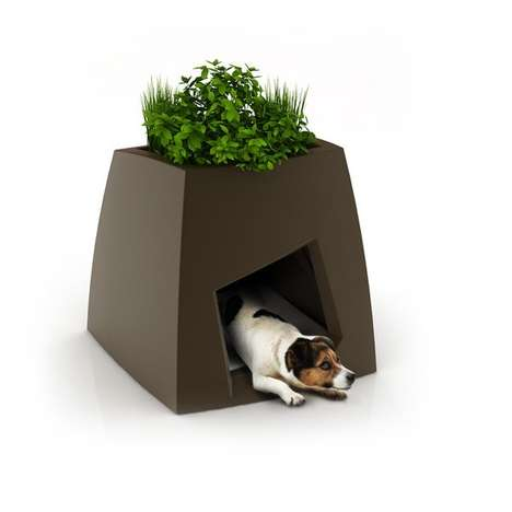 Pet House Planters - Mini Garden-Topped Pet Homes by Pousse Créative