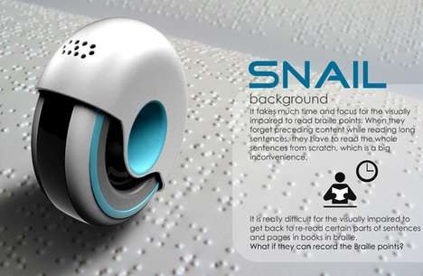Rolling Braille Readers - Wonkook Lee's Snail Reader Revolutionizes Reading