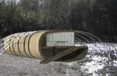 Fishing Rod Residences - Floating House by Brad Wanek Hangs Flood and Tide-Resistant