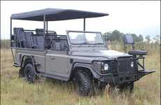 Eco-Friendly Safari Cars - The All-Electric Land Rover Defender is Silent and Green