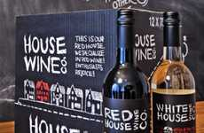 Chalkboard Beverage Branding - House Wine Co. Packaging Has the Sincerity of an Old Schoolhouse