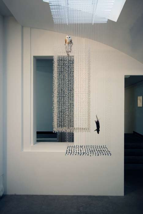 Suspended Animal Installations - The Claire Morgan Floating Sculptures Will Blow You Away