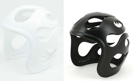 Retro Helmet Sculptures
