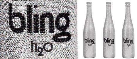 Crystal-Studded Water Bottles