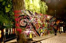 Cellophane Graffiti - Brotherhood Media Specializes in Ambient Intervention Marketing.
