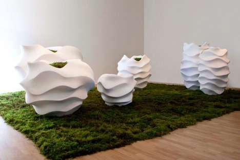 Undulating Sculptural Planters